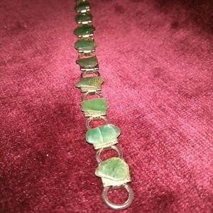 Vintage Green Natural Stone Bracelet